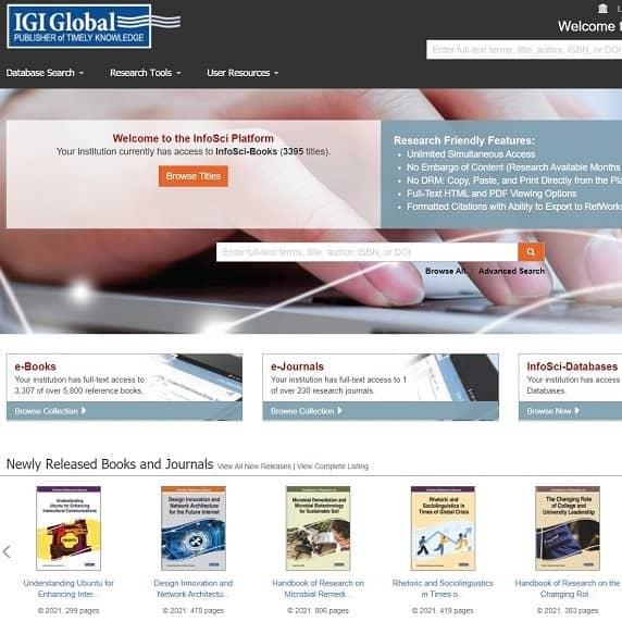 New database: IGI Global InfoSci-Books