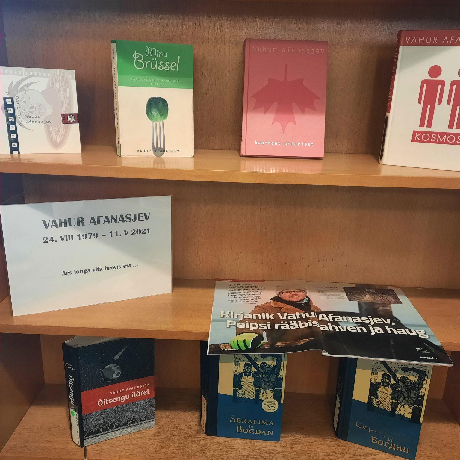 Raamatunäitus: In Memoriam Vahur Afanasjev